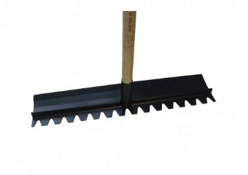 Kraft Tools - Steel Head Concrete Rake - complete with handle